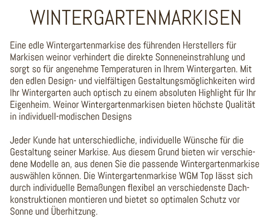 Wintergartenmarkisen in 67377 Gommersheim